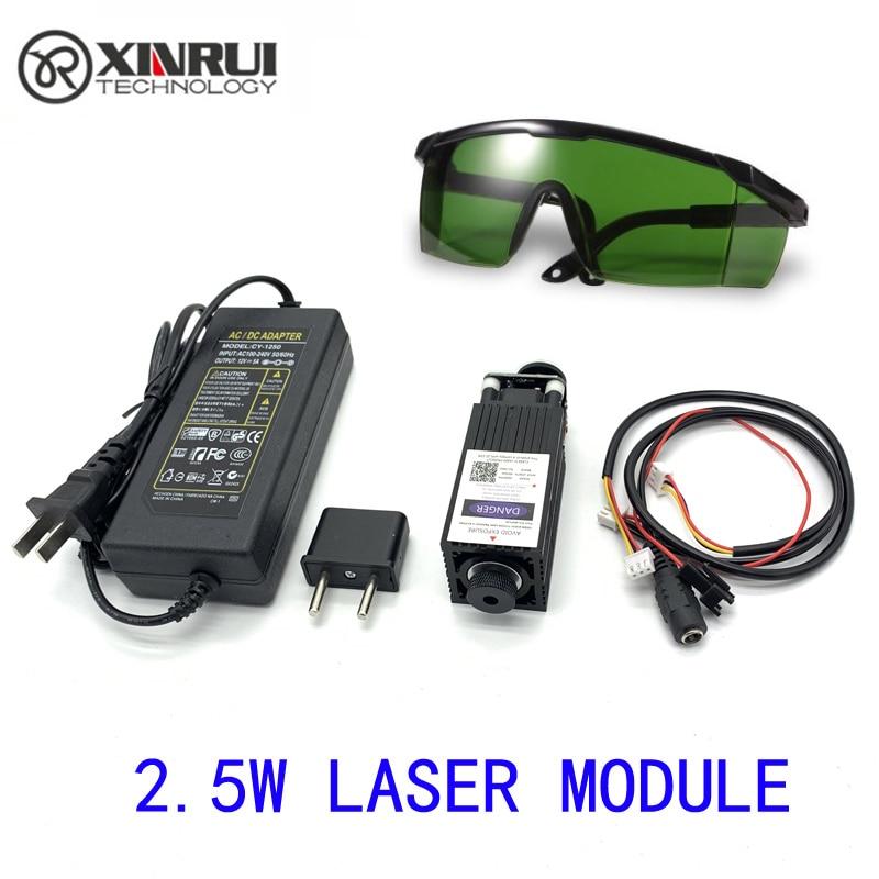 Free Shipping 450nm 2500mW 12V High Power TTL Adjustable Focus Blue Laser Module DIY Laser Engraver Accessories 2.5W Laser Head