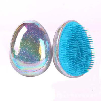 1pc Hair Brush Comb High Quality Egg Round Shape Detangling Comb Hair Brushes Salon Hair Care Comb for Travel Drop Shipping