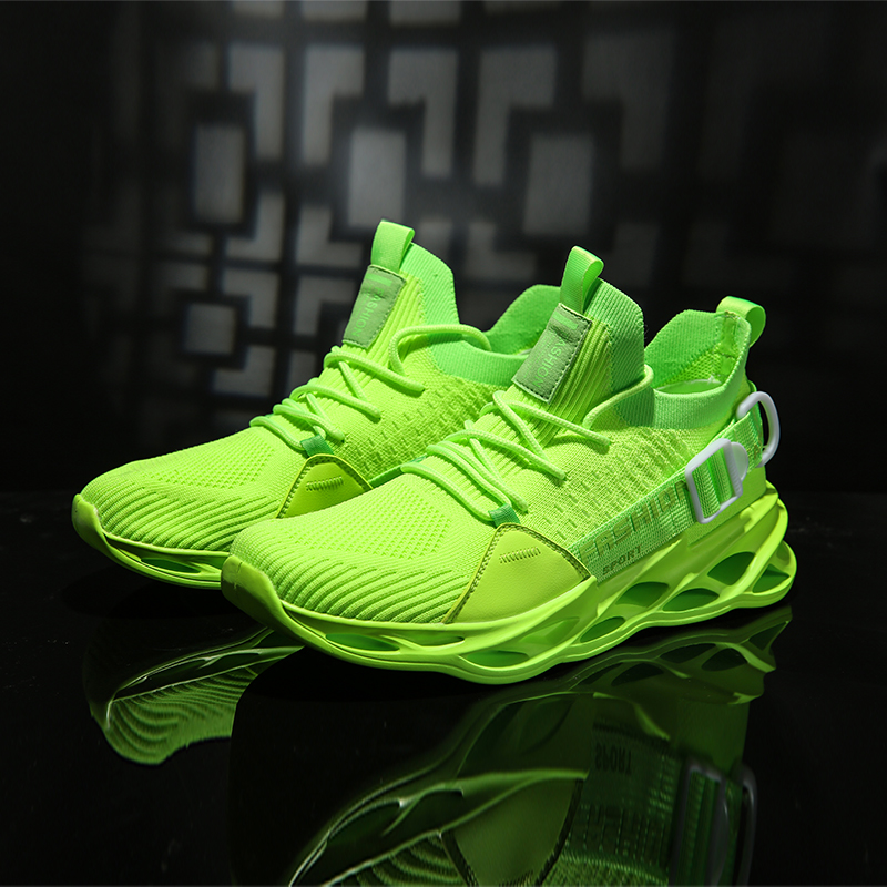 Fashion Man Sports Shoes Lightweight Running Shoes For Men Black Yellow Outdoor Male Sneakers Damping Jogging Athletic Trainers