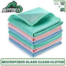 Batoca 6 pçs/lote panos de limpeza de vidro de microfibra 16