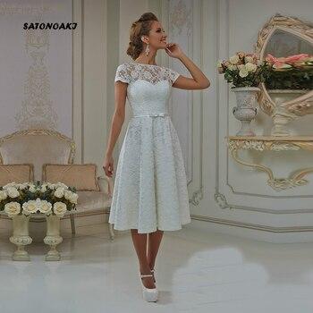 2020 Sexy Short Wedding Dress for Women Lace Corto Princesa Beach Robe Mariee Vestido De Novia Undefined Online Shop India - discount item  32% OFF Wedding Dresses