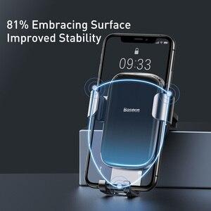 Image 5 - Baseus Metal araba telefon tutucu 360 derece cep telefon tutucu araba hava firar dağı klip standı akıllı telefon için yerçekimi braketi