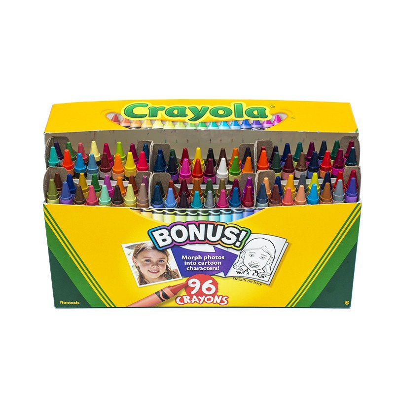 Crayola Crayon 96 Color Children Safe Painted Graffiti Fine Art Toy 52-0096