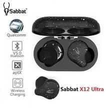 Sabbat x12 超 TWS Bluetooth V5.0 インイヤーイヤフォンクアルコム Aptx 真のワイヤレスステレオスポーツ充電器イヤホン