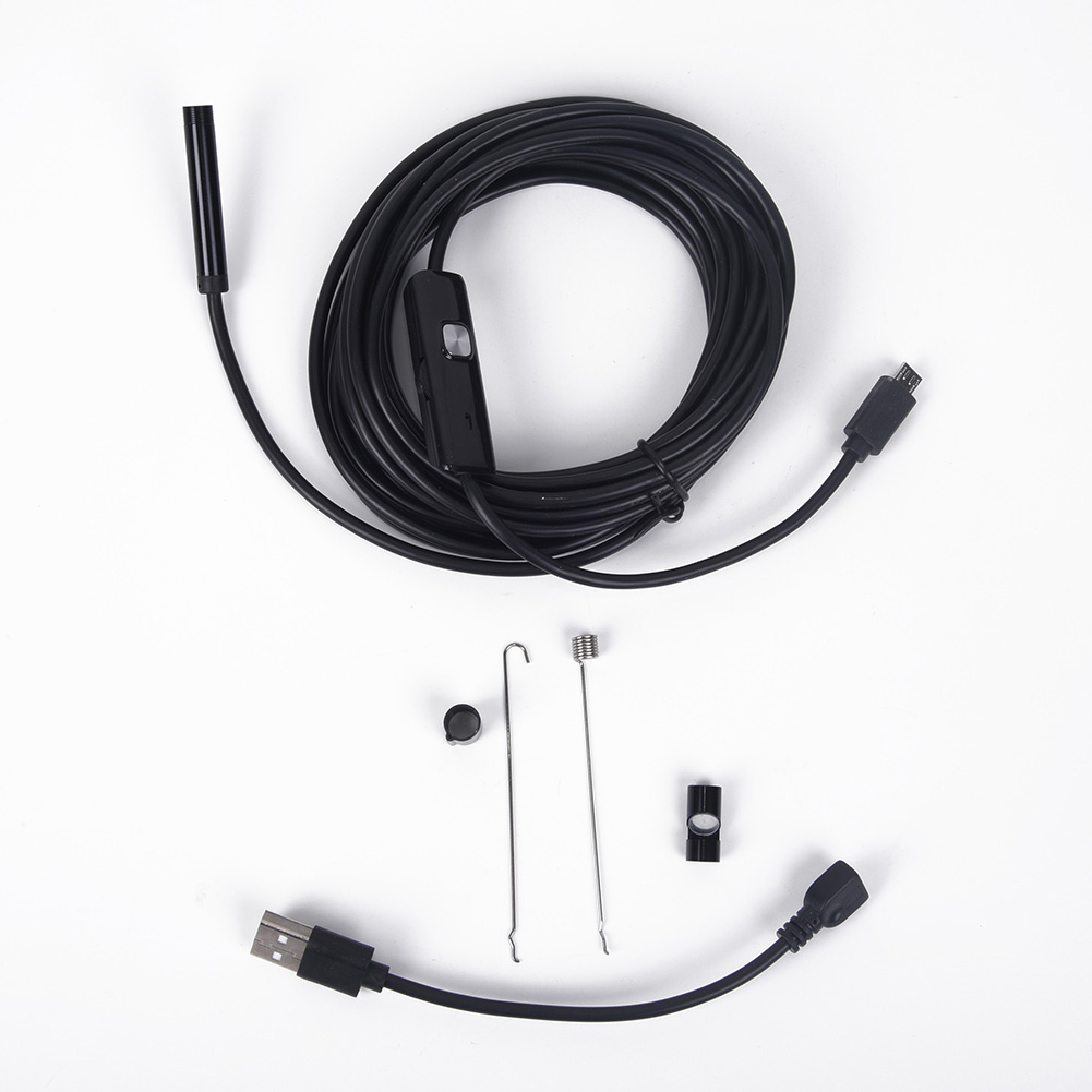Pipe Inspection 5M 7mm Camera Plumbing Water Proof  USB Drain Endoscope Sewer
