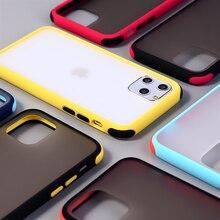 Матовые прозрачные чехлы для iPhone 11Pro XR XS Max X 6 6S 7 8Plus Siliicone Бампер Жесткий PC телефон задняя крышка для iPhone 11Pro Max