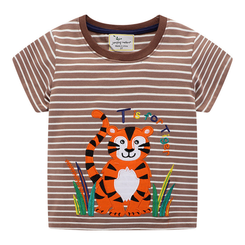 H2a2664db468a4cc885329b774fe12965F Jumping meters Animals Summer Boys Girls T shirts Crabs Printed Cotton Baby Clothes Tees Boys s