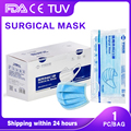 Medical Mask Disposable Surgical Face Mouth Mask Non-Woven Filter Anti Disposable Mask 3-Layers Adult Independent packaging
