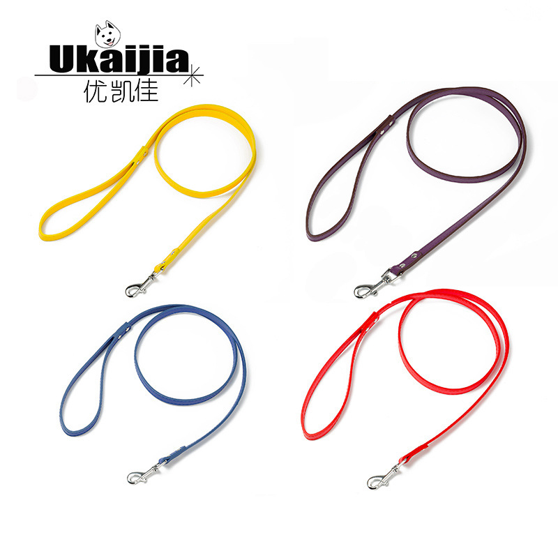 Pet Dog Lanyard Small And Medium-sized Dogs Pet Traction Rope Pu Light Board Adjustable Dog Chain