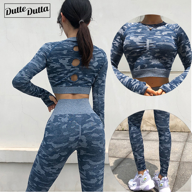 Nieuwe 2 Stuk Naadloze Gym Kleding Yoga Set Fitness Workout Sets Yoga Out Past Voor Vrouwen Atletische Legging Vrouwen sportkleding Pak
