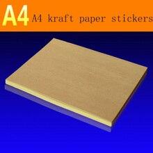 95 листов/упаковка A4matte крафт-бумага самоклеющаяся этикетка для лазерного струйного принтера, копировальная бумага крафт-картон цветная Наклейка