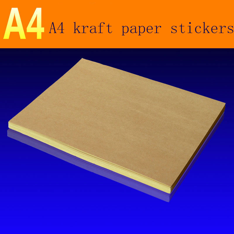 95 Sheets/pack A4matte Kraft Paper Self-adhesive Label For Laser Inkjet Printer, Copier Craft Paper Carton Color Sticker Sticker
