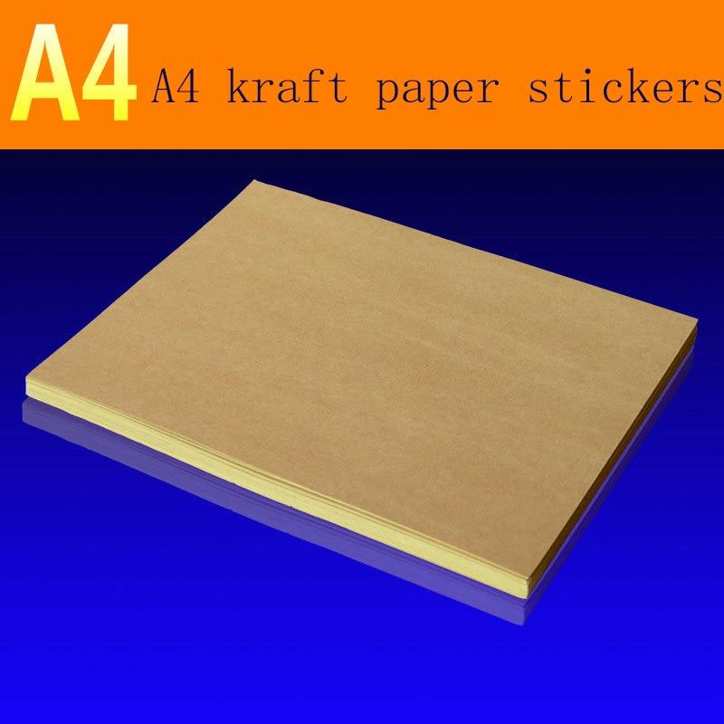 95 Sheets/pack A4matte Kraft Paper Self-adhesive Label For Laser Inkjet Printer, Copier Craft Paper Carton Color Sticker Sticker