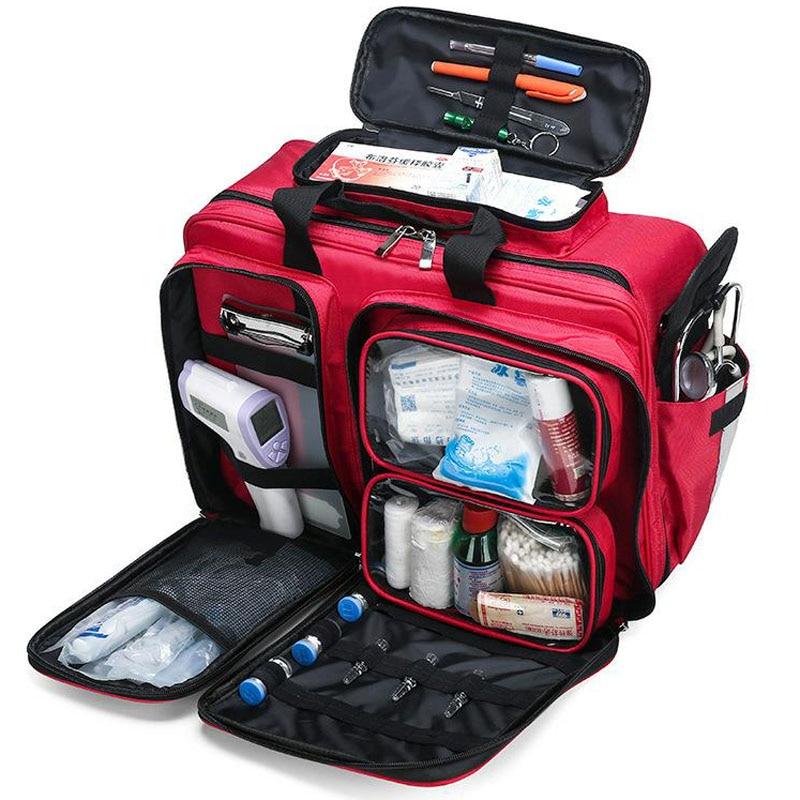 Пустая аптечка, сумка-холодильник, водонепроницаемая многофункциональная Светоотражающая сумка-мессенджер, семейные дорожные аварийные м...