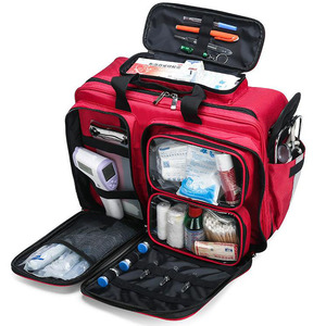 Empty First Aid Kit Refrigeratible Bag Waterproof Multi-function Reflective Messenger Bag Family Travel Emergency Medical Bags