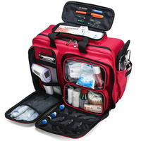 Empty First Aid Kit Refrigeratible Bag Waterproof Multi function Reflective Messenger Bag Family Travel Emergency Medical Bags