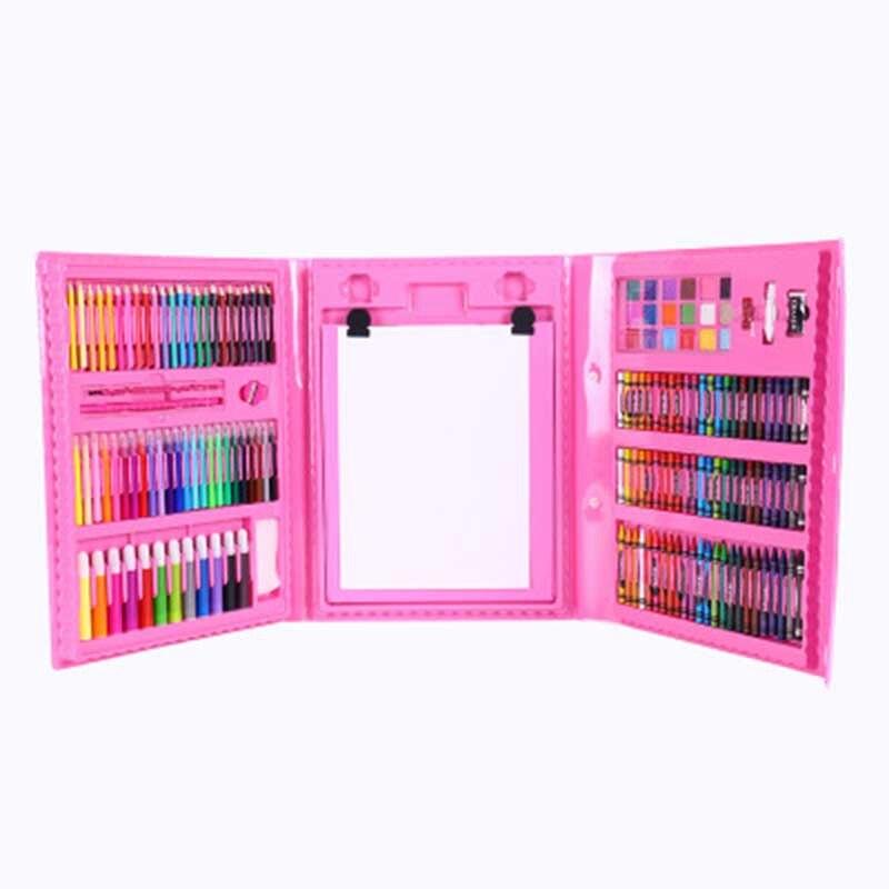 176 Uds., juego de pinceles para pintar Graffiti, juego de juguetes de entretenimiento diario para niños, con caballete de regalo para niños