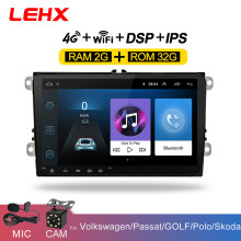 LEHX 9 นิ้วAndroid 8.1 รถวิทยุGPS Autoวิทยุ 2 Din USBสำหรับVW Skoda Octavia Golf 5 6 Touran Passat B6 Jetta Polo Tiguan(China)