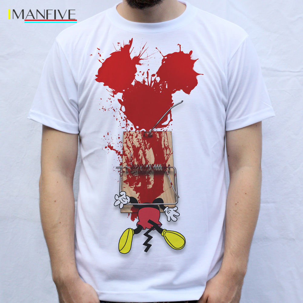 Mickey T Shirt men fashions Design Trap Trapped Mickey cartoon print 100 Cotton white Short Sleeve O Neck Tops Tee Shirt Homme in T Shirts from Men 39 s Clothing