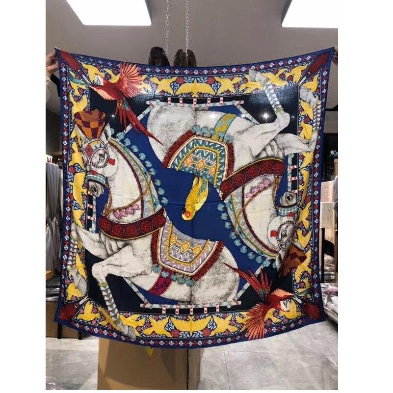 Foulard en cachemire de soie imprimé de charme enveloppe les écharpes de couverture de châle pour les femmes foulards de mode de dames