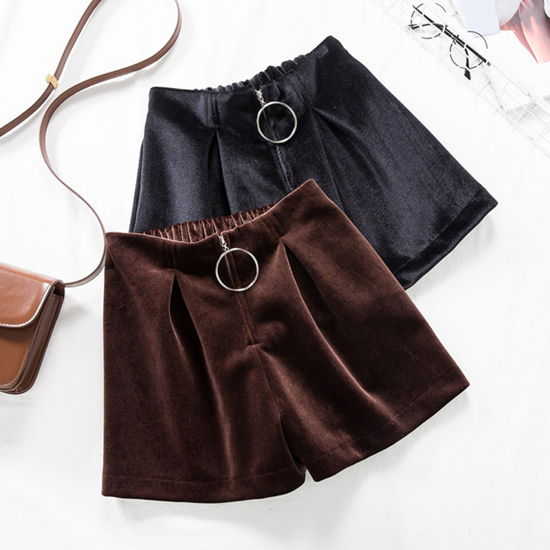 Elegant Office Lady Solid Color Front Zipper Mid High Waist Skirts Spring Winter Women Suede Leater Package Hip Skirt