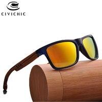 Chic Men Glasses Retro Bamboo Polarized Sunglasses Wood Gafas De Sol Hombre Mirror Coated Driving Eyeglass Hipster Oculos XGX108