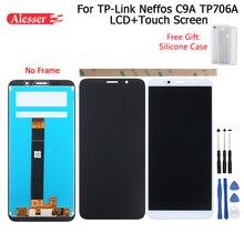Alesser ل TP Link Neffos C9A TP706A شاشة الكريستال السائل وشاشة تعمل باللمس الجمعية + أدوات + غطاء من السيليكون ل TP Link Neffos C9A TP706A