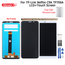 Alesser tp リンク neffos C9A TP706A lcd ディスプレイとタッチ画面アセンブリ + ツール + シリコンケース tp リンク neffos C9A TP706A