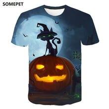 Смешная футболка с коротким рукавом и изображением тыквы на
