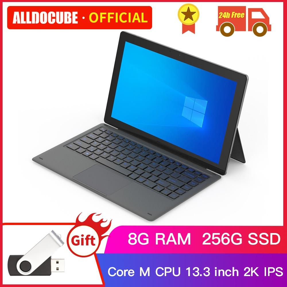Ветвью Alldocube и бант Honor 8 Lite 13,3 дюймов, 2K IPS Intel Core-M Windows 10 Планшеты M3-6Y30 планшетный ПК 8 Гб Оперативная память 256 ГБ Встроенная память SSD KNote8 win10