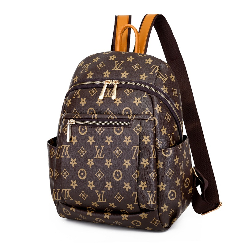 New 2020 Mummy Bag Backpack Fashion Printing Maternity Bag Letter Leather Organizer Baby Bags For Mom