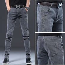 big size 2019 winter new plus size men's casual jeans brand clothing large size