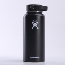 Hydro Flask Water Bottle - Stainless Steel & Vacuum Insulated - Wide Mouth with Straw Lid - Multiple Sizes & Colors цена и фото