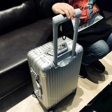 سبائك الألومنيوم المغنيسيوم حقيبة المرأة المعدنية متكاملة تشكيل حقيبة الرجال الراقية TSA سبينر الأمتعة