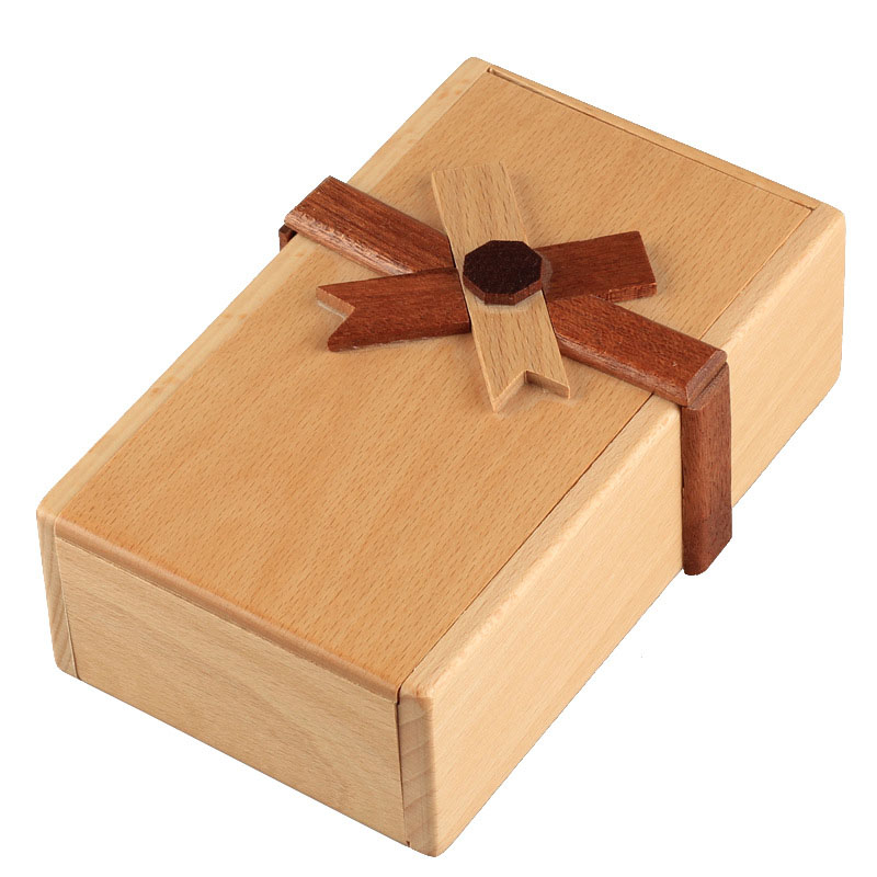1pcs Creative Puzzle Toy Wooden Gift Case Box With Secret Compartments To Challenge Wooden Toys Puzzles Boxes Kids Wood Toy Gift