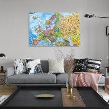 90x60cm poster do vintage retro mapa da europa distribuição política personalizado atlas parede cartaz decoração para escritório escola