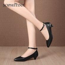 Туфли sophitina женские классические натуральная кожа заостренный