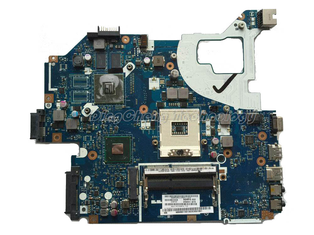 Laptop Motherboard For Acer E1-571 <font><b>Q5WV1</b></font> <font><b>LA</b></font>-<font><b>7912P</b></font> REV 2.0 NBM6B11001 NB.M6B11.001 HM77 DDR3 GT710M 2GB graphics card image