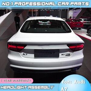 Image 4 - Accessoriestail luz do carro para audi a7 luzes traseiras 2011 2017 led luz da cauda lâmpada traseira em movimento turn signal luz lanterna traseira