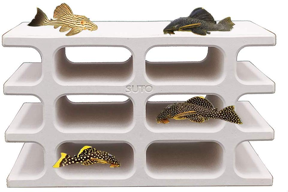 White Ceramic Hiding Shelter Fish Tank Decoration For Amano Shrimp Cichlid Pleco Fish Spawning And Breeding Cave House Decor