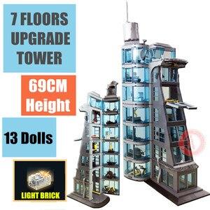 Image 1 - مجسمات جديدة لشخصيات صناعة برج ستارك مان من حديد ثانوس ثور ، نموذج تكنيك لقوالب البناء ، لعبة هدية للأولاد