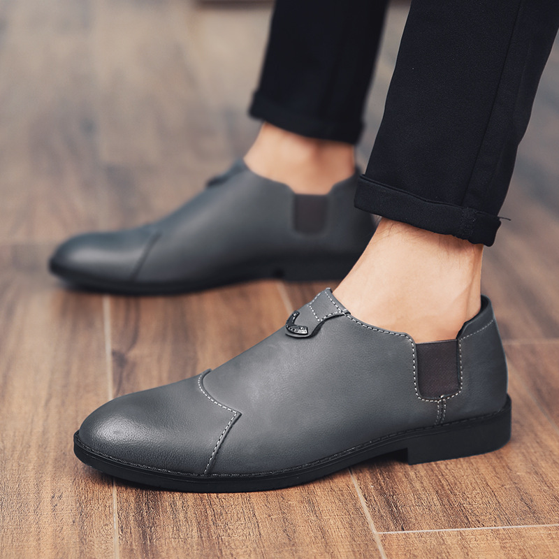 Shoes Loafer Spring Slip-On Comfy Plastic Autumm Flat Casual Fashion Footwear PU Solid