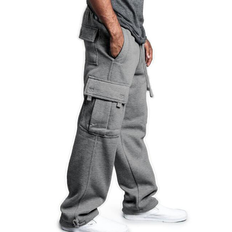 Hip Hop Joggers Sweatpants Men Streetwear Big Pocket Cargo Pants Casual Straight Loose Baggy Trousers