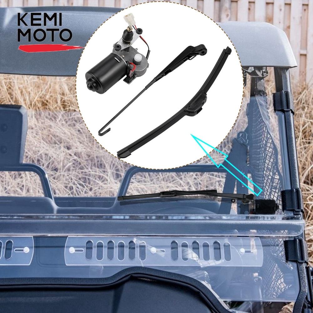 UTV Universal 12 Volt Electric Windshield Wiper Motor Kit For Polaris Ranger RZR 900 For Can Am For Honda For Kawasaki TERYX