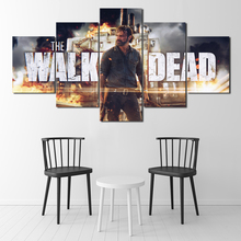 5 Piece Canvas Painting The Walking Dead Movie Poster HD Pictures Wall Art Decorative Paintings for Living Room Decor