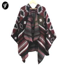 купить RANAWEELA Women's Bohemian Print Blanket Poncho Cape Shawl Open Front Shawl Scarf Wraps Winter Ethnic Pashmina Ruana Female по цене 968.85 рублей