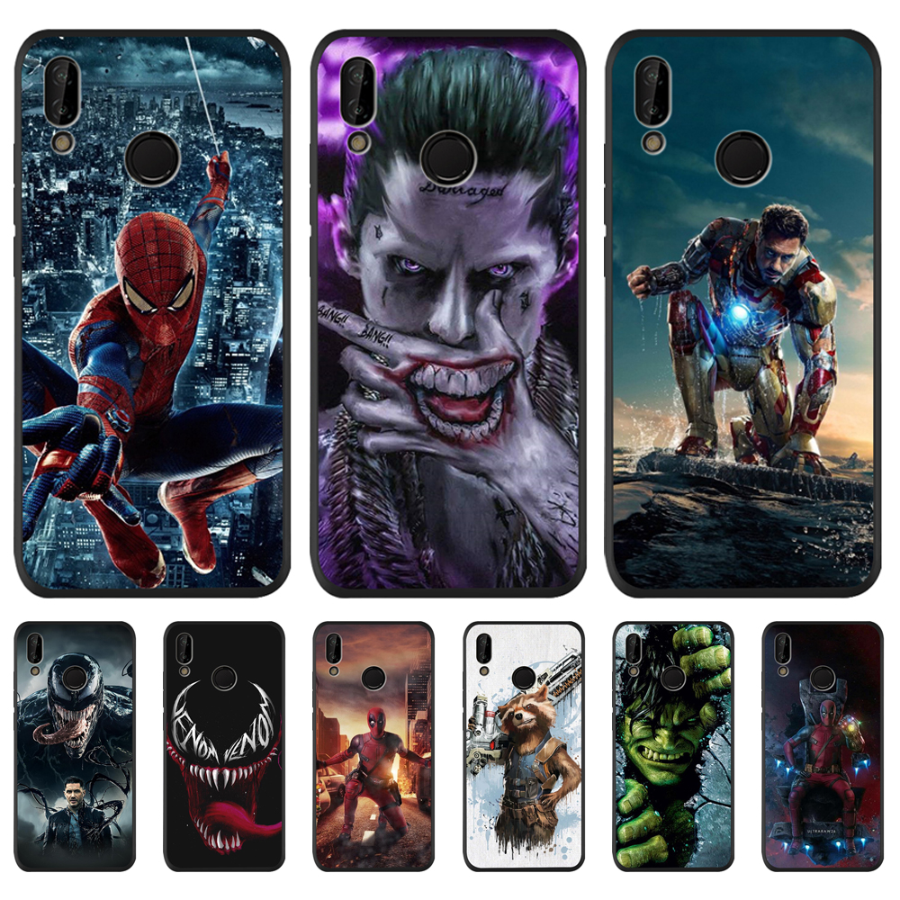 Marvel luxury For Huawei P8 P10 P20 P30 Mate 10 20 Honor 8 8X 8C 9 V20 20i 10 Lite Plus Pro phone Case back Cover Coque Etui Funda capa shell capinha pattern pattern fashion boy cartoon cool Spider-Man Hulk Deadpool image