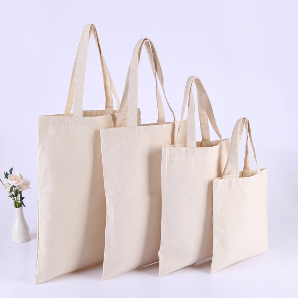 10 pieces/lot  Nature Cotton Tote Bags,Plain cotton bags,Cotton Shoulder Bags,Custom Size Logo Print Accept-in Top-Handle Bags from Luggage & Bags    1