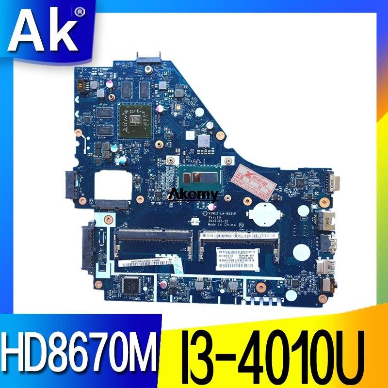 V5WE2 LA-9531P Mainboard For Acer E1-572G E1-572 V5-561G Motherboard HD8670M GPU I3-4010 CPU Test Work 100% Original