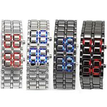Reloj de pulsera de Metal de Iron Samurai para hombre, nuevo estilo, Digital, LED, electrónico, 2019